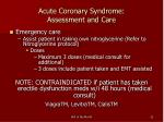 acute coronary syndrome assessment and care22