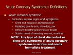 acute coronary syndrome definitions5