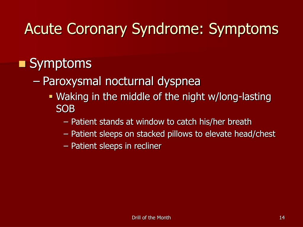 Acute Coronary Syndrome: Symptoms