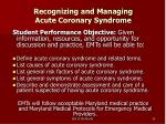recognizing and managing acute coronary syndrome24