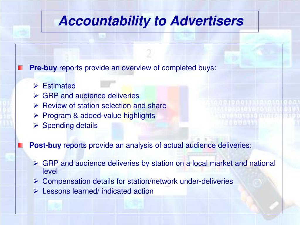 Accountability to Advertisers