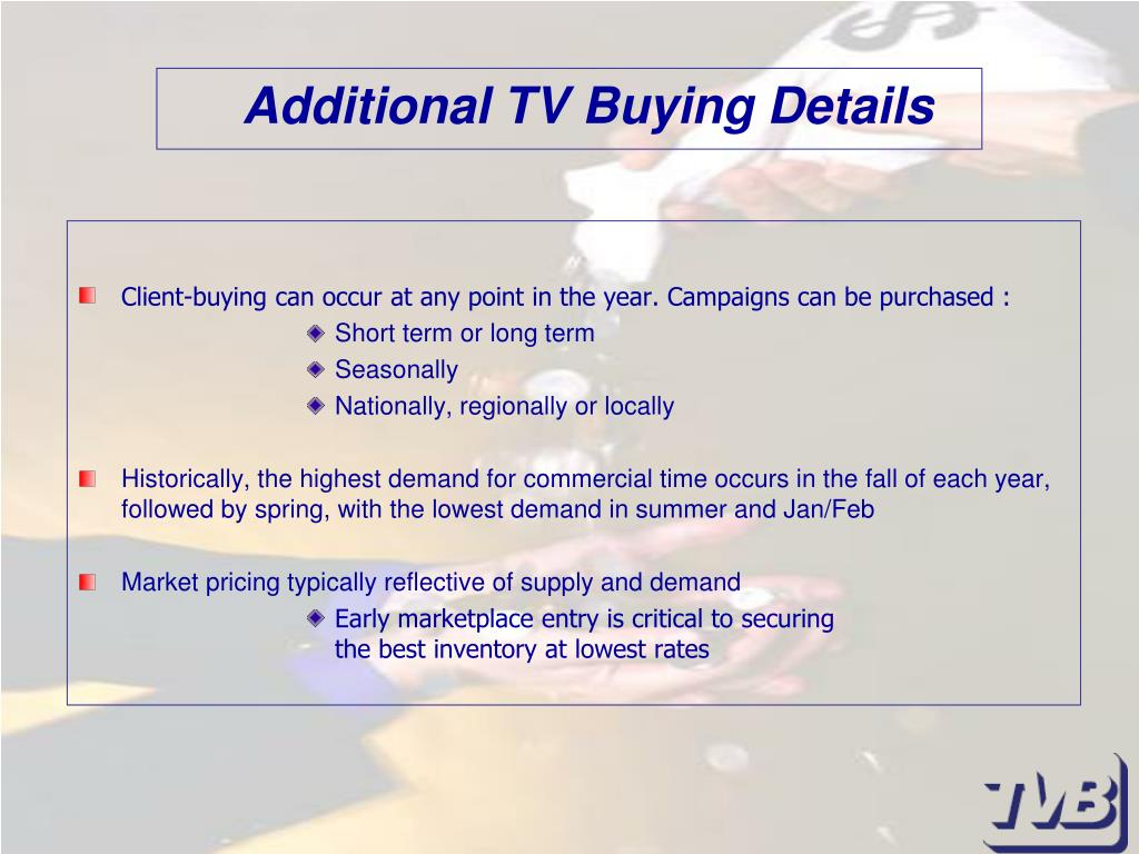 Additional TV Buying Details