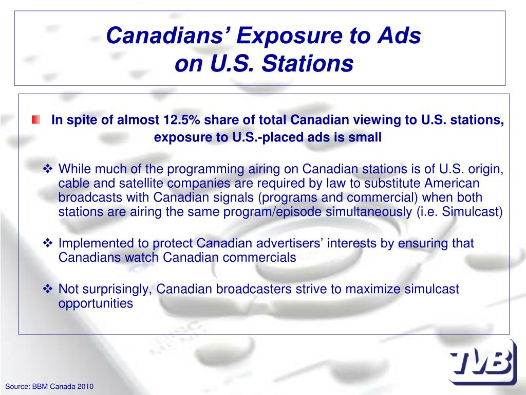 Canadians' Exposure to Ads