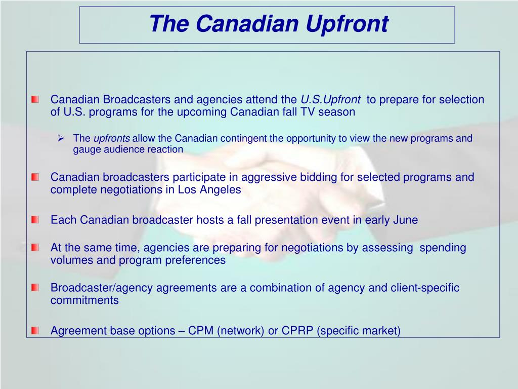 The Canadian Upfront
