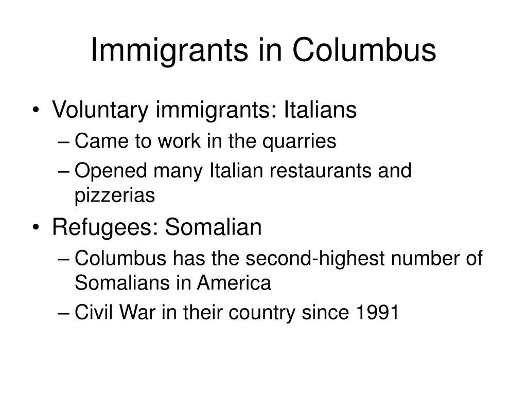 Immigrants in Columbus