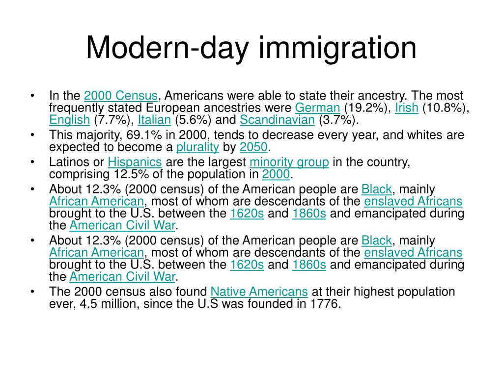 Modern-day immigration