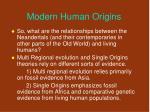 modern human origins40