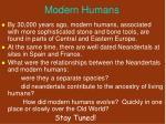modern humans