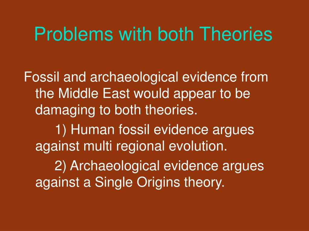 Problems with both Theories