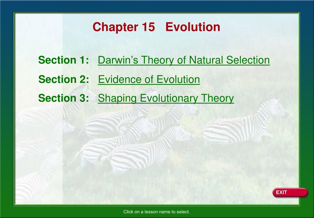 Chapter 15   Evolution