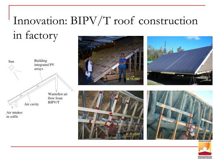 Innovation: BIPV/T roof construction in factory