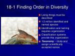 18 1 finding order in diversity