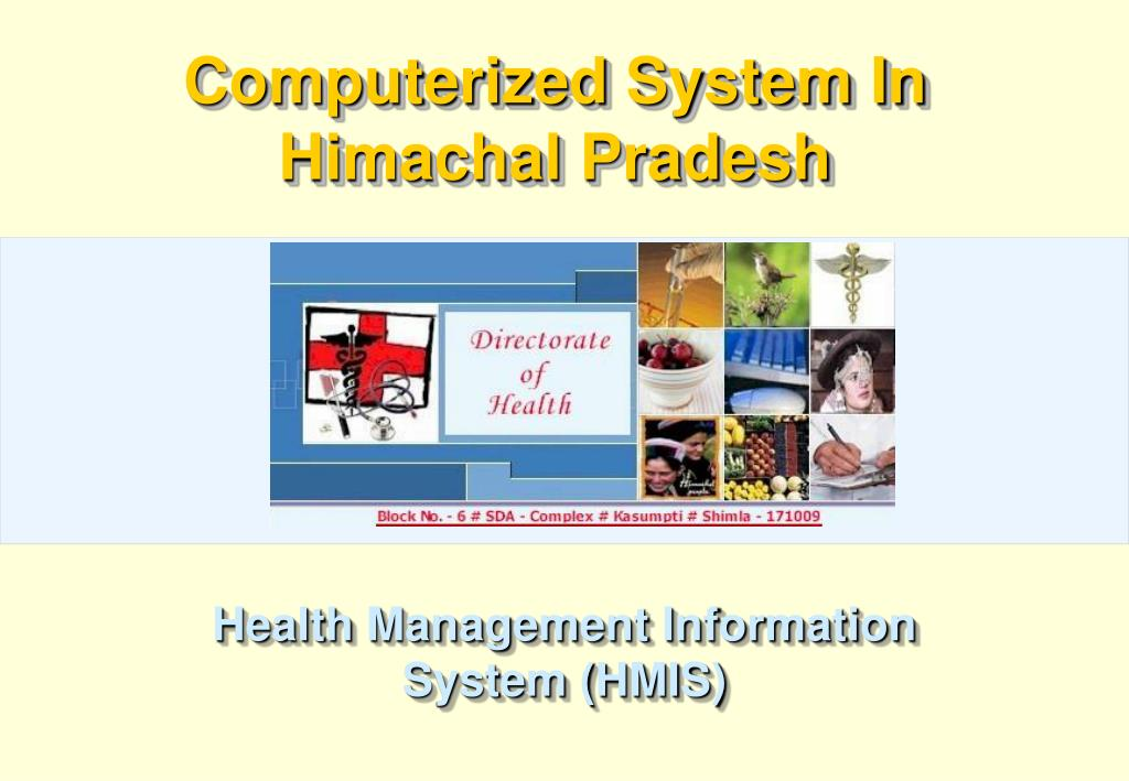 Computerized System In Himachal Pradesh
