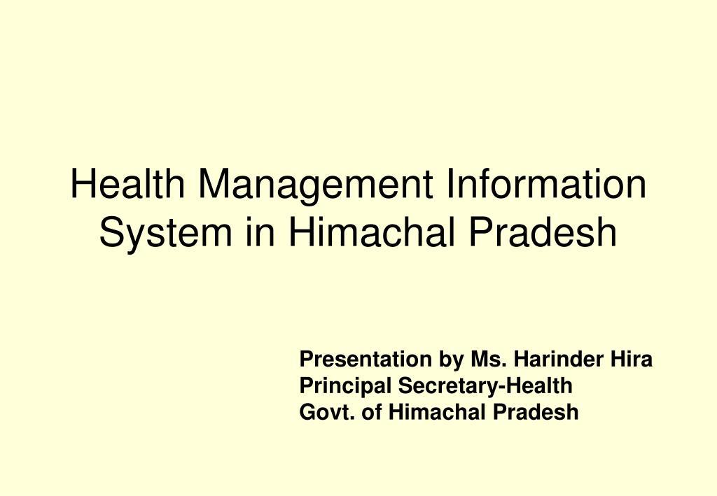 Health Management Information System in Himachal Pradesh