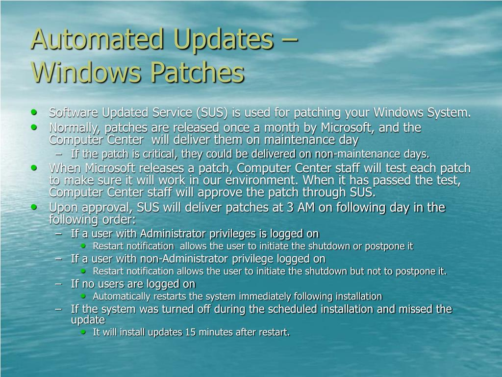 Automated Updates –