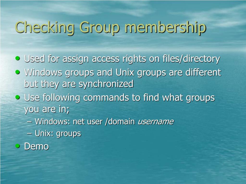 Checking Group membership