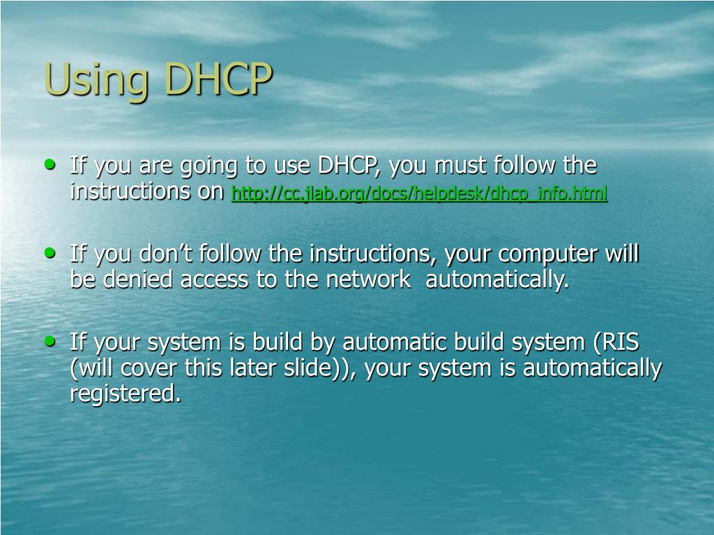 Using DHCP