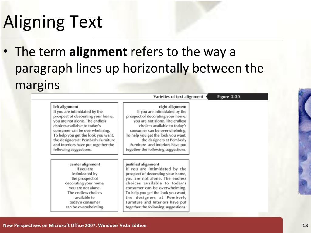 Aligning Text