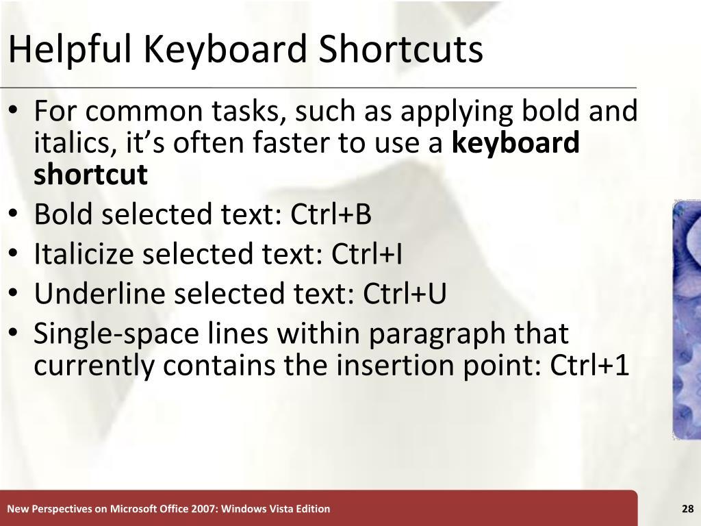 Helpful Keyboard Shortcuts