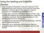 using the spelling and grammar checker5