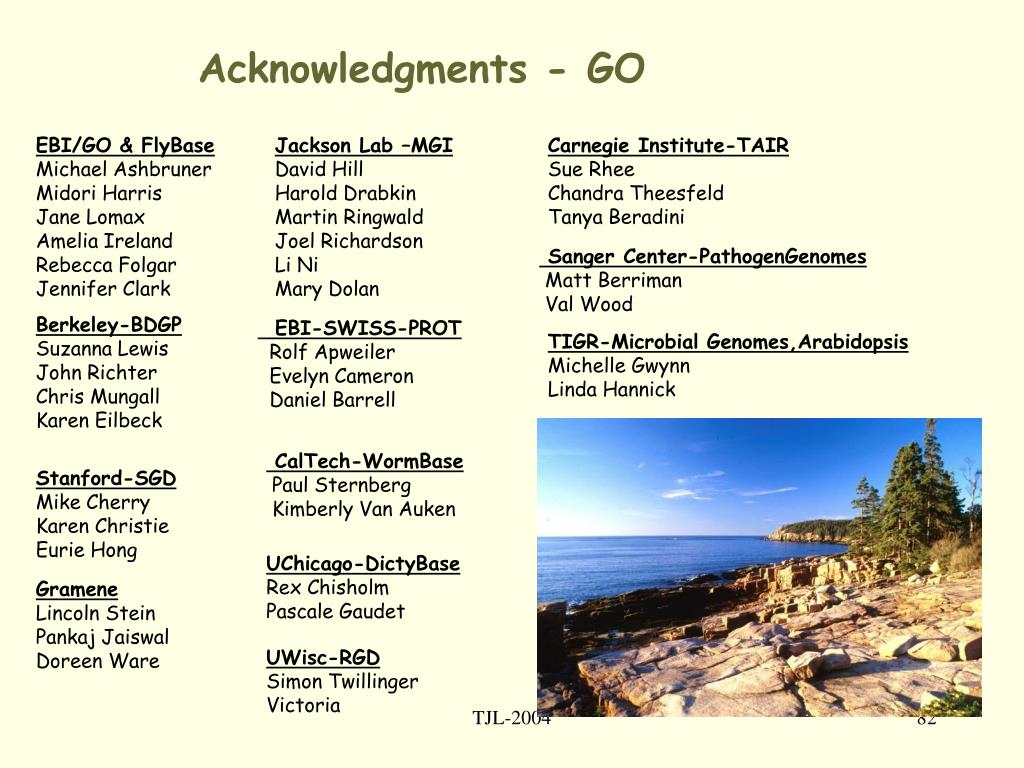 Acknowledgments - GO