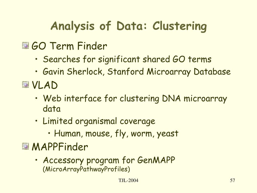 Analysis of Data: Clustering