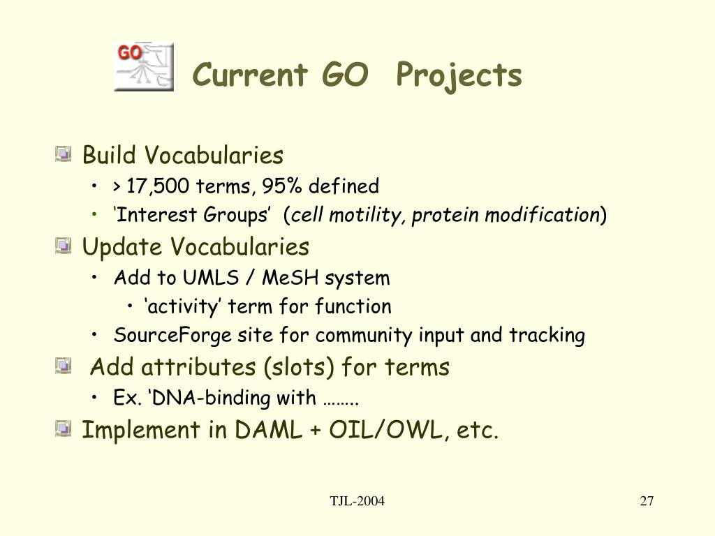 Current GO  Projects