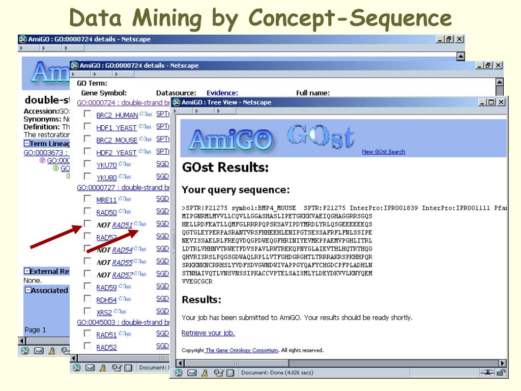 Data Mining by Concept-Sequence