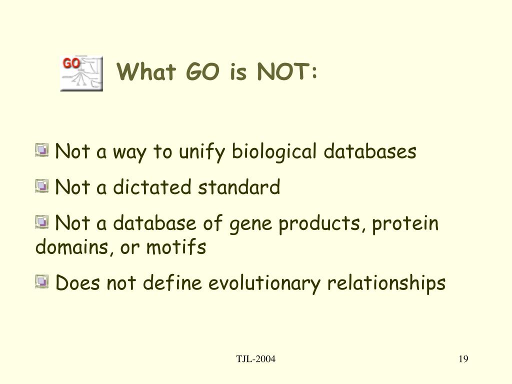 What GO is NOT: