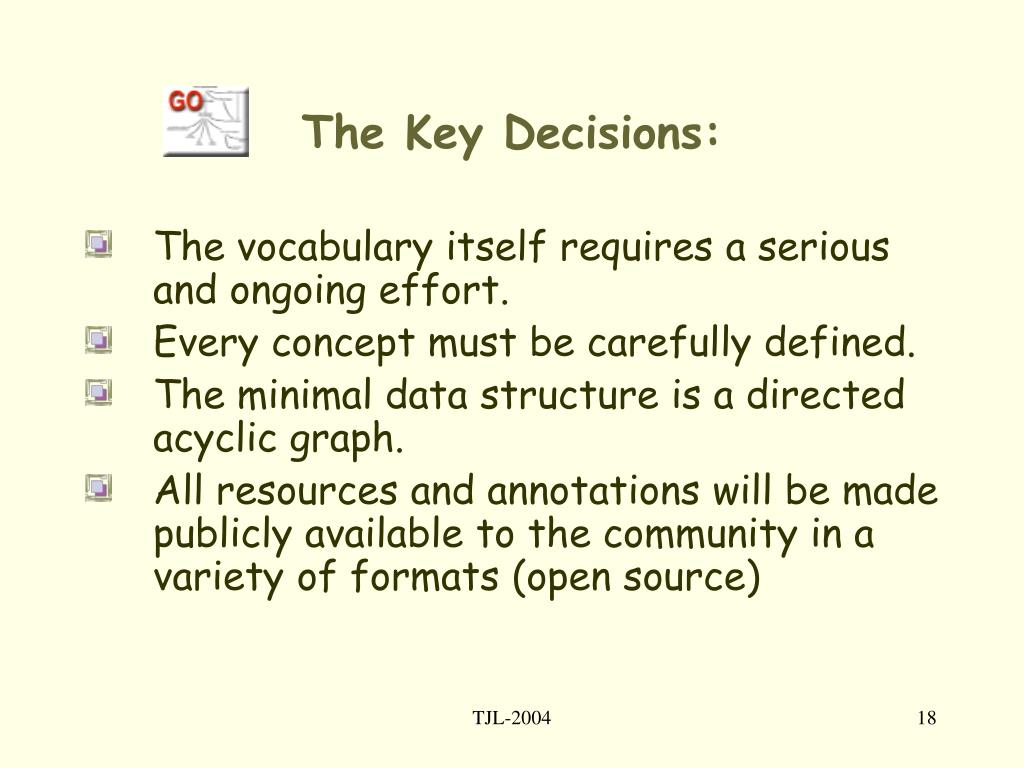 The Key Decisions: