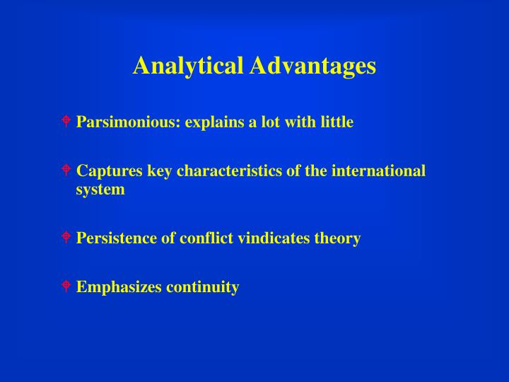 Analytical Advantages