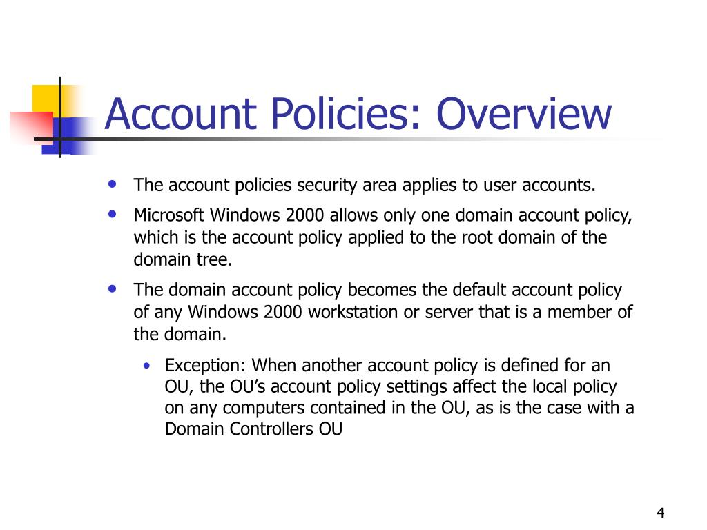 Account Policies: Overview