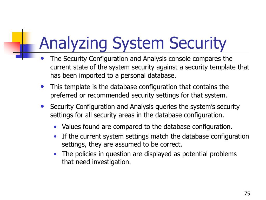 Analyzing System Security