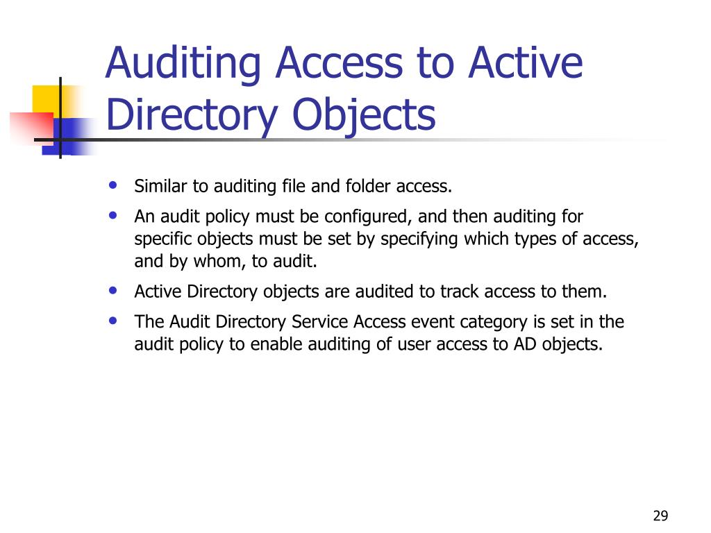 Auditing Access to Active Directory Objects