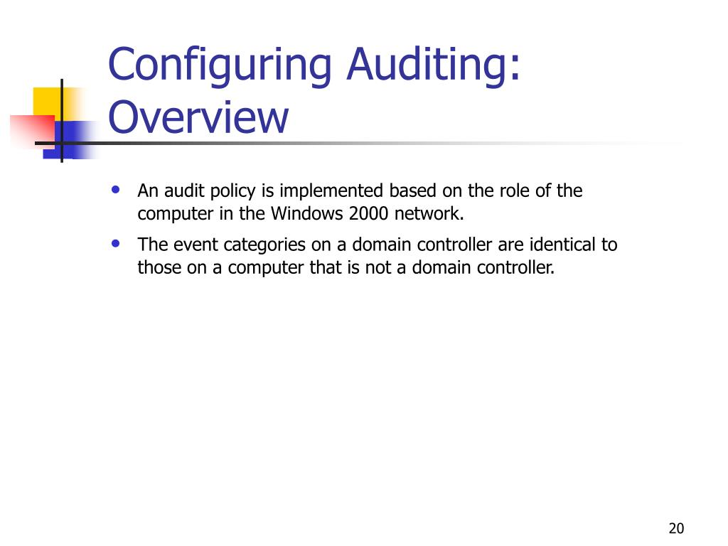 Configuring Auditing: Overview