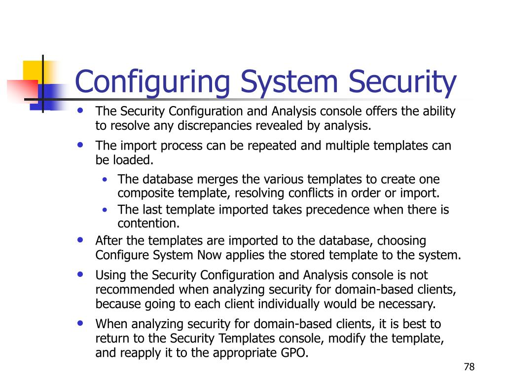 Configuring System Security