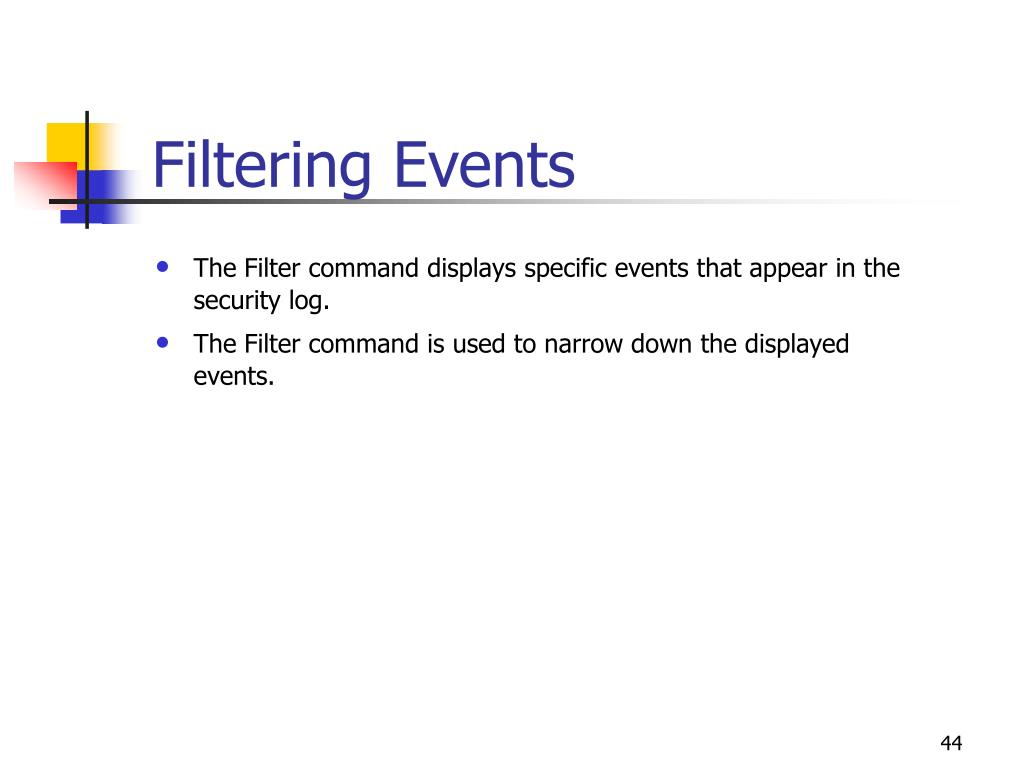 Filtering Events