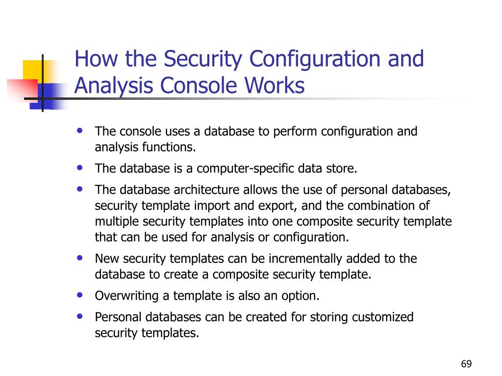 How the Security Configuration and Analysis Console Works