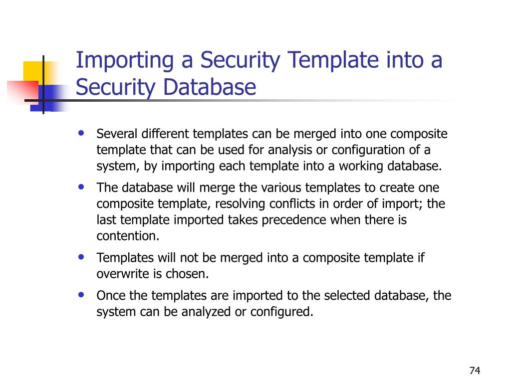 Importing a Security Template into a Security Database