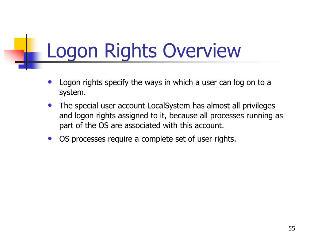 Logon Rights Overview