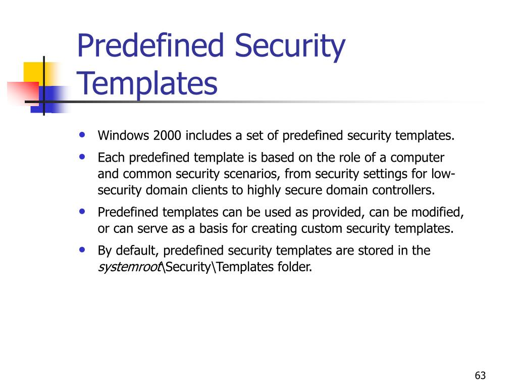 Predefined Security Templates