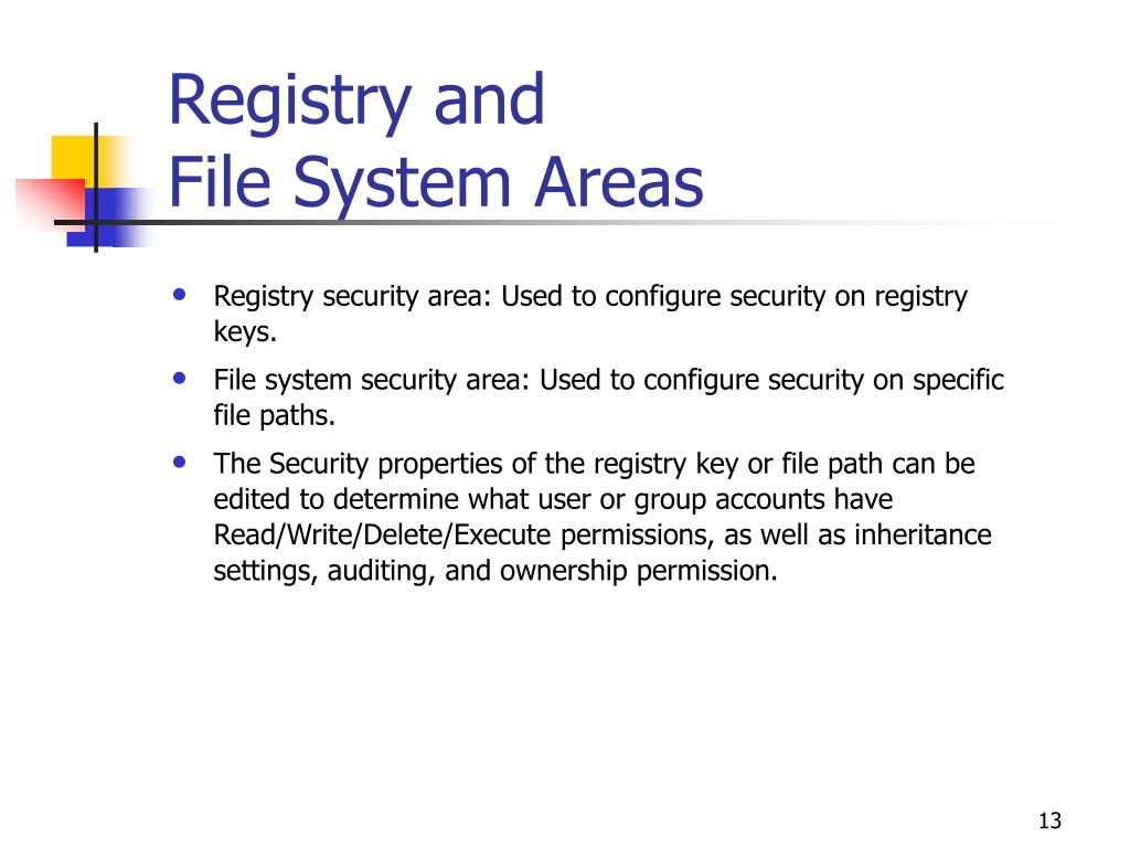 Registry and