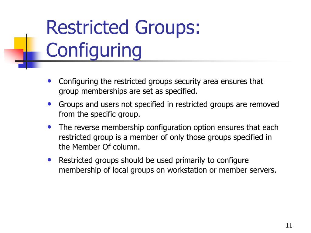 Restricted Groups: Configuring