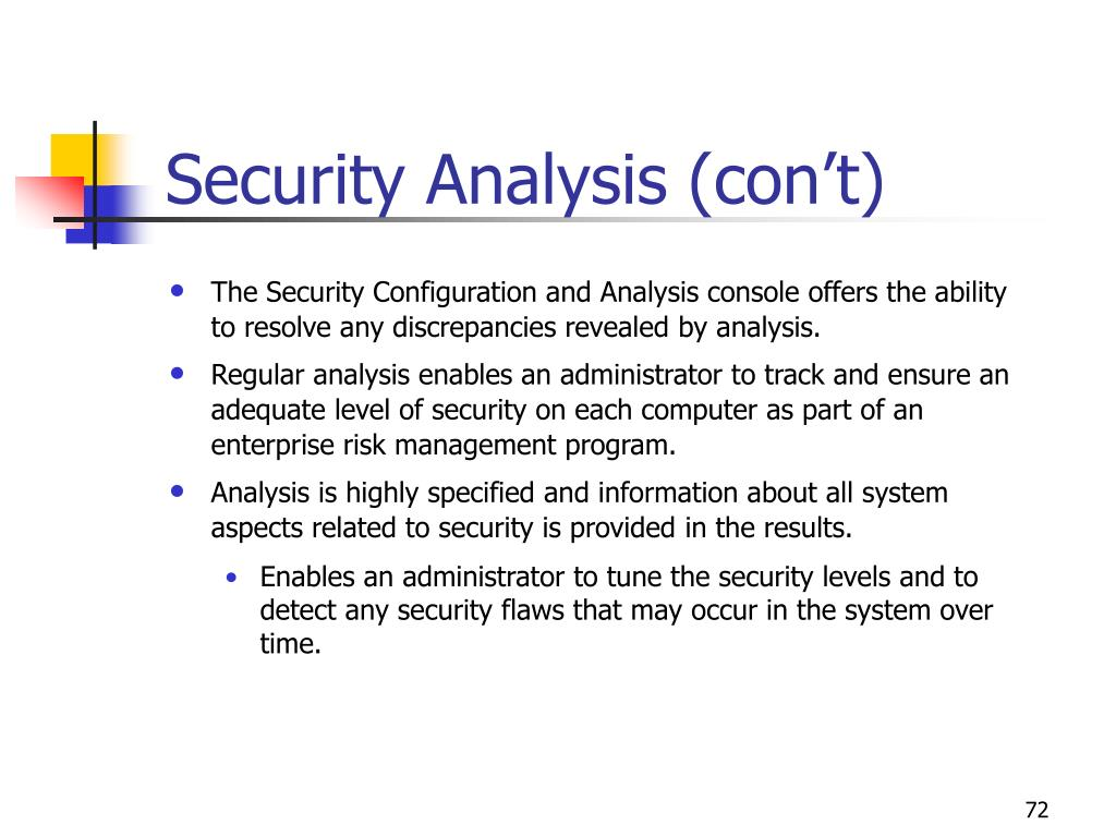 Security Analysis (con't)