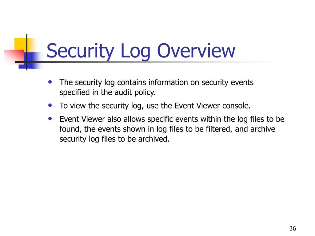 Security Log Overview