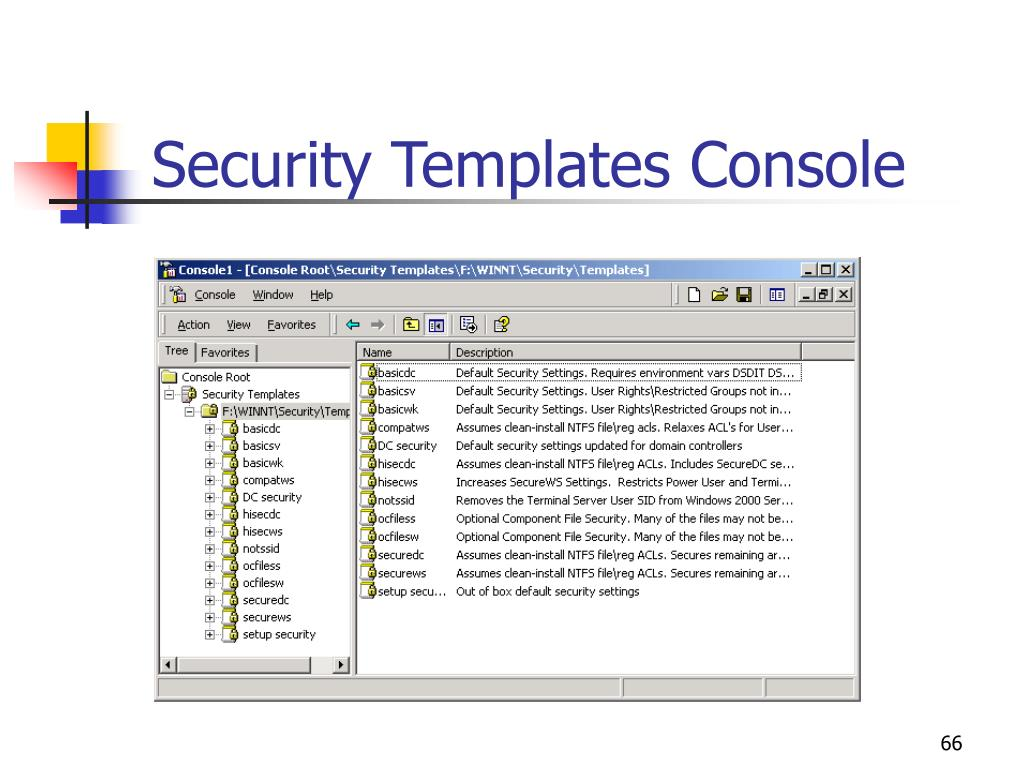 Security Templates Console
