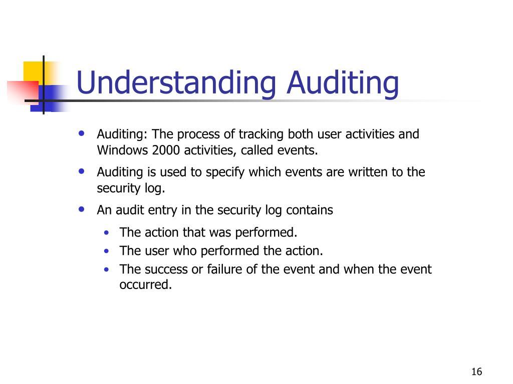 Understanding Auditing