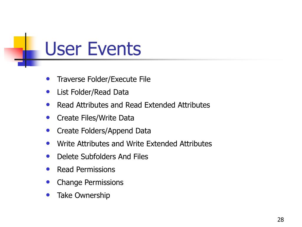 User Events