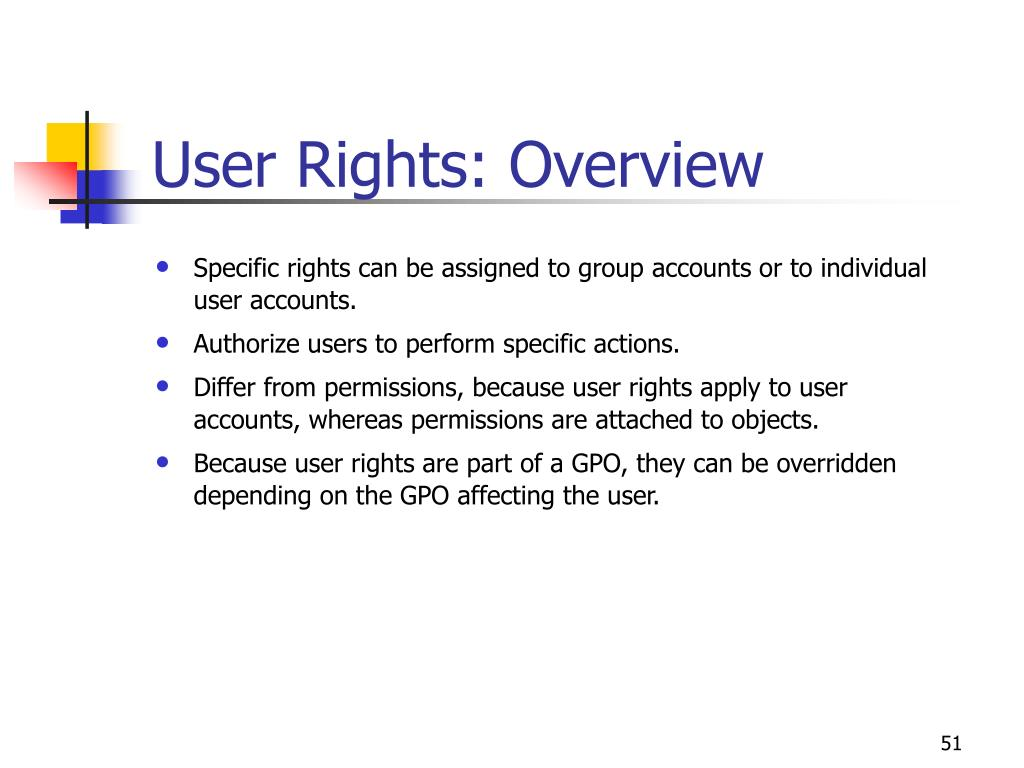 User Rights: Overview