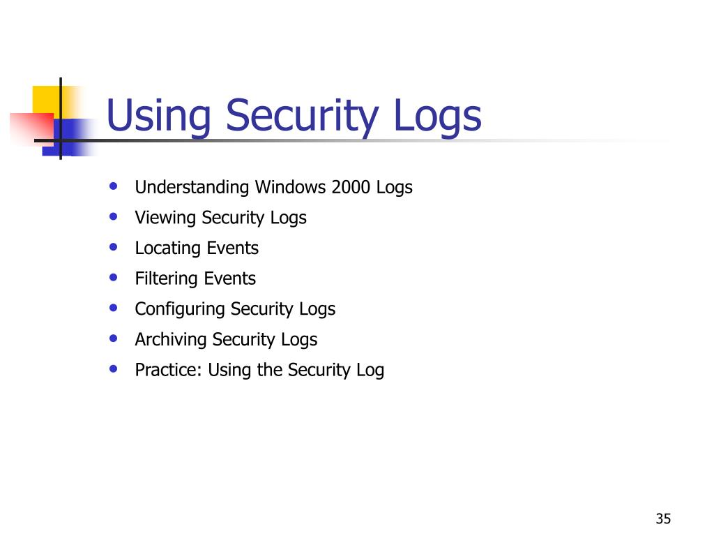 Using Security Logs